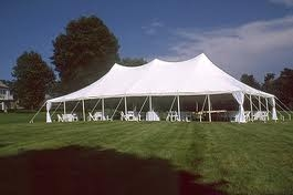 Elite 30 x 75 Party Canopy Tension Style Tent White