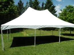 White Tension Style Festival 30x40 Frame Tent