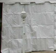 Tent sidewall, solid white 30 ft