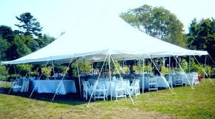 Elite 30 x 45 Party Canopy White Tension Style