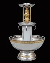 Silver and gold 5 gallon fountain
