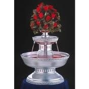 Silver, brushed aluminum, 5 gallon fountain