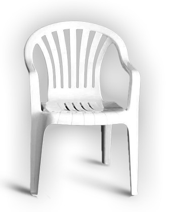 Children's Chair-White Resin-Stackable