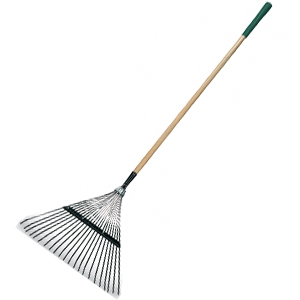 Green Thumb Classic Plus 22-Inch Leaf Rake With 48-Inch Handle