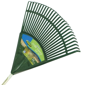 Green Thumb 24-Inch Basic Poly Lawn & Leaf Rake