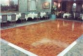 Dance Floor Panel, Wood Parquet, 3x3