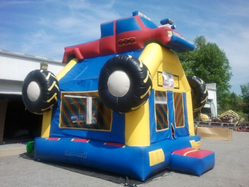 Space Walk, Monster Truck Inflatable Bounce House