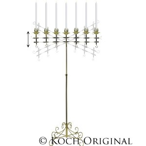 7-Light Adjustable Floor Candelabra