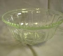 Punch bowl, glass with ladle