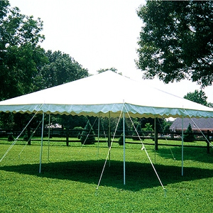 Anchor 20' x 20' Canopy Party Pole Tent (White and Red)