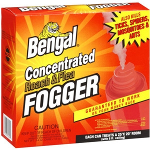Bengal Concentrated Roach & Flea Fogger, 3ct