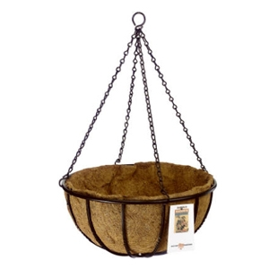 18in Blacksmith Coco-Lined Hanging Basket
