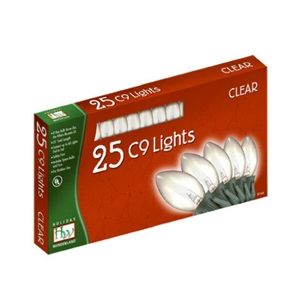 Holiday Wonderland, 25 Light, Clear, C9 Light Set