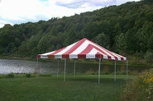 20x20 Red White Frame Canopy Tent