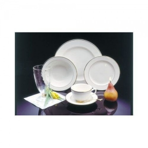 Ivory China with Gold Trim Dinnerware
