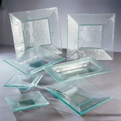 Chip Resistent Contemporary Square Glass Dinnerware