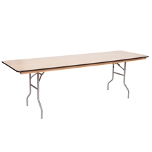 8' x 30'' Wood Table