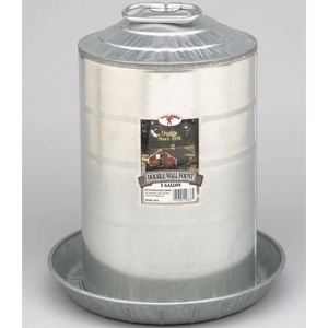 Little Giant Galvanized 3 Gallon Double Wall Fount Waterer