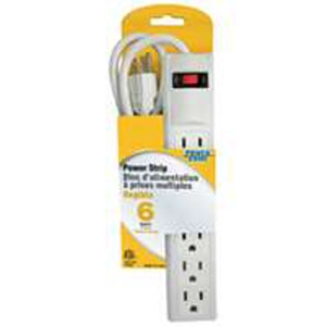 Straight Plug 6-Outlet Power Strip