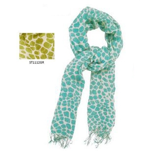Catherine Lillywhite's Colorful Giraffe Print Scarf