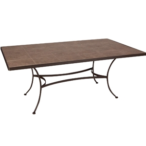 O.W. Lee Dining Table with Sand Tile Insert