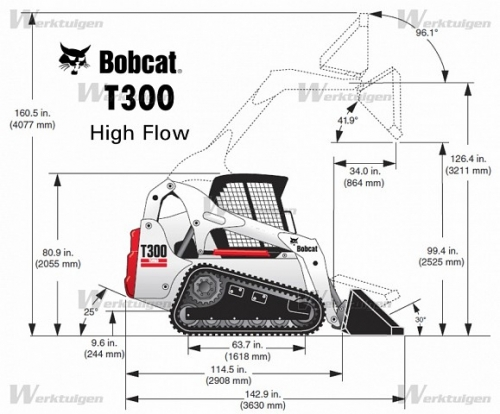 Bobcat T-300 Skid loader