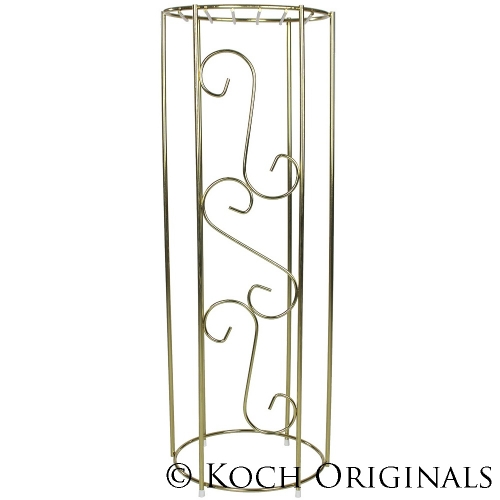 PLANT STAND/DECORATIVE COLUMN, SILV OR BRASS