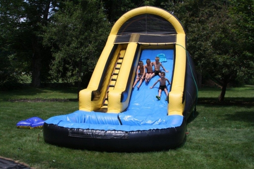 Bounce House Black & Yellow Water Slide 29' long x 11' x 14' High