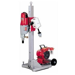 Diamond Coring Rig with Large Base Stand, Vac-U-Rig® Kit, Meter Box and Diamond Coring Motor