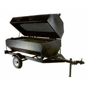 6 ft Single Door Charcoal Towable Grill