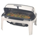 8 quart Stainless Steel Roll Top Chafer