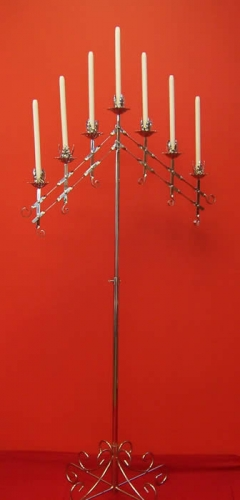 Silver 7 Candle Candelabra