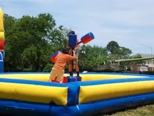 Spacewalk Joust Inflatable Bounce Game