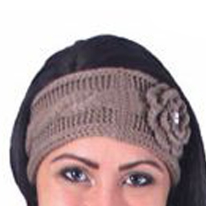 Noelle Enterprises Krystal Rose Knit Headband with Crystal Accent