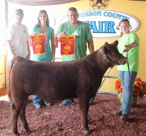 McKayla Dodson - Reserve Grand Champion Feeder Steer Open and Youth Division - 2012 Jefferson Co WV Fair