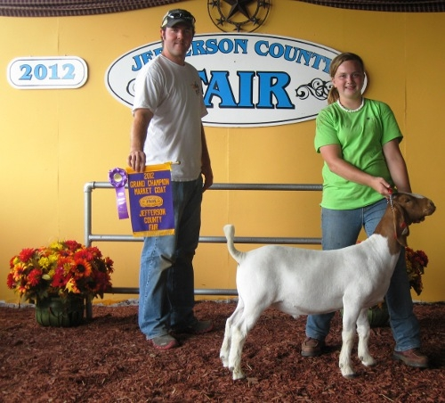 McKayla Dodson - Grand Champion Goat 2012 Jefferson Co WV Fair