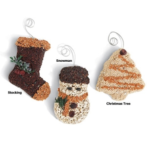 Mr. Bird Christmas Shape Seed Ornament