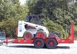 Bobcat with trailer