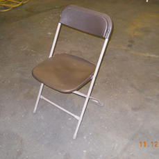 Plastic Folding Chair, Brown