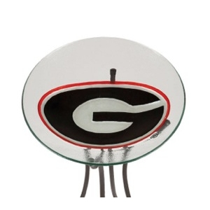 University of Georgia Glass Birdbath
