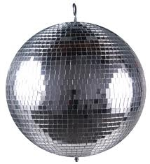 Mirror ball with motor and lights