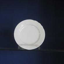 white, bread and butter plate