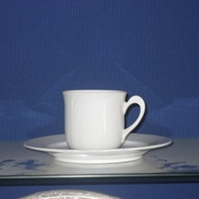 White coffen cup and saucer