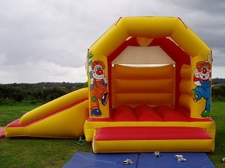 Clown Bounce House & Slide Inflatable Combo
