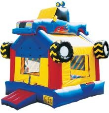 Monster Truck Moonwalk Inflatable Bounce House