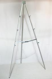 Easel, metal display
