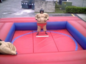 Sumo Wrestling Game Includes Mats and Suits
