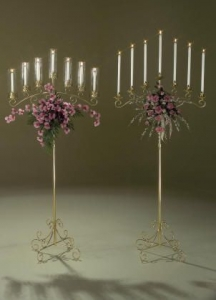 Candelabra Brass 7 light adj.