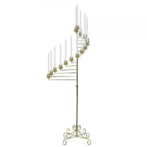 Candelabra spiral Nickel 15 light