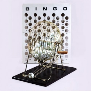 Bingo Game with Cage and Balls